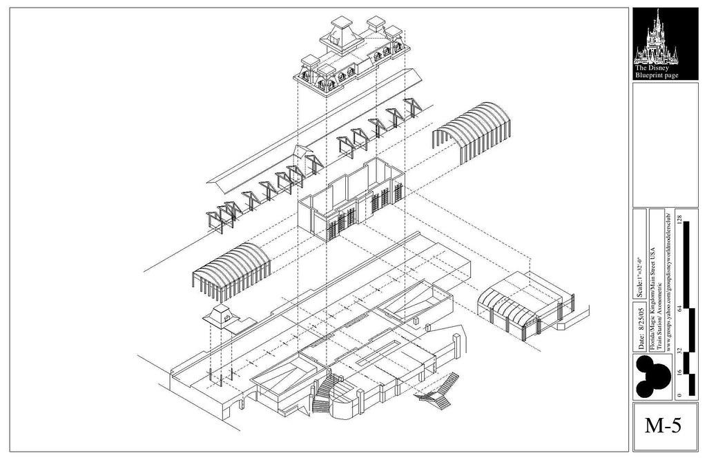 Axonometric drawing architecture
